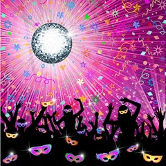 Carnevale in Musica-Carnival Music Party-Vector