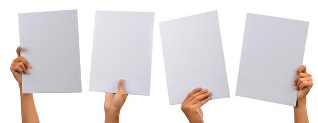 various blank cardboard