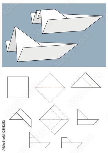 Как сделать оригами лодка