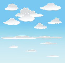 vector background with sky