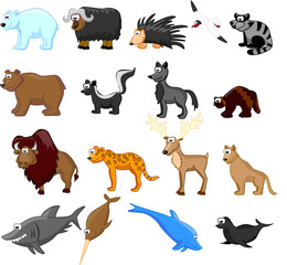 большой сет животных северной америки