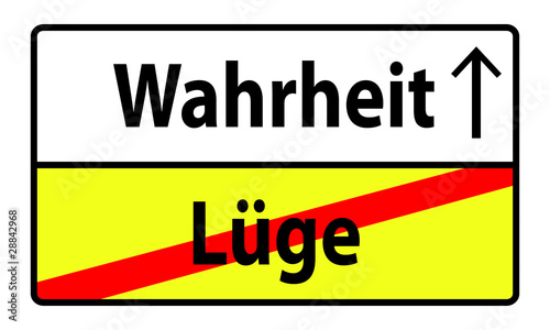 schild hinweis hinweisschild l ge wahrheit stockfotos und lizenzfreie bilder auf. Black Bedroom Furniture Sets. Home Design Ideas