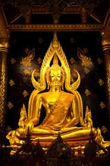 Golden buddha image in Phisanulok,Thailand