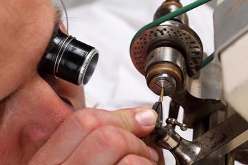 watchmaker in workshop
