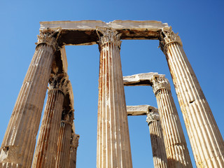 Olympian Zeus temple central perspective view