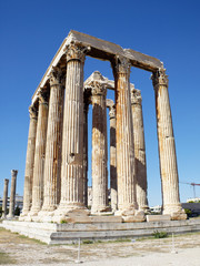 Ruins of Olympian Zeus temple, south east view
