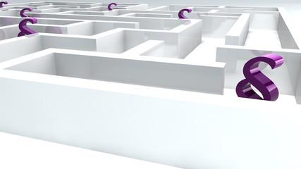 Labyrint weiss Ampersand