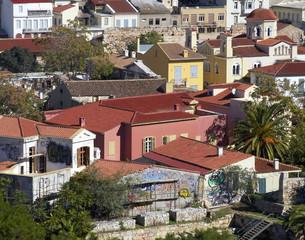 old town Plaka, under Acropolis, Athens Greece