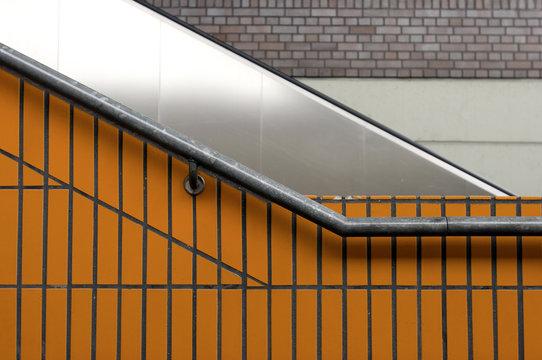 Orange escalator