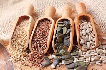 Sesame, flax, pumpkin and sunflower seeds