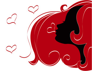 abstract women illustration vector silhouette love