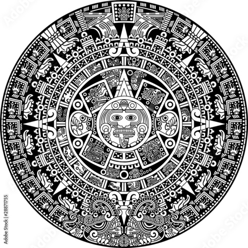 Aztec Calendar Illustration : Quot aztec calendar stock image and royalty free vector files