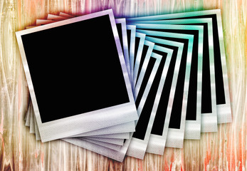 Instant Film Photos In a Row