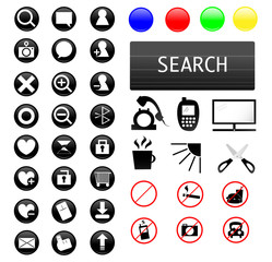 Many icons for web,computer,life and internet