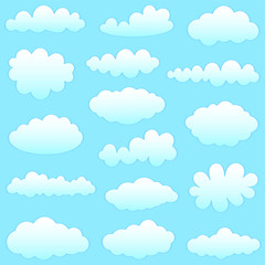 Printed roller blinds Heaven clouds collection