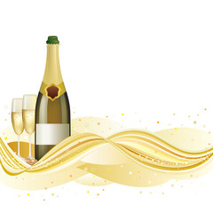 vector illustration of champagne celebrate holiday