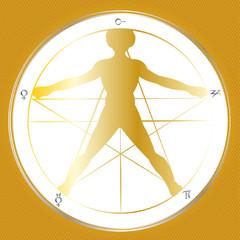 goldener schnitt - pentagramm gold