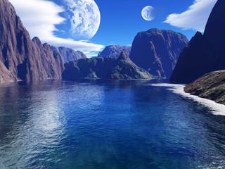 colorful fantasy landscape