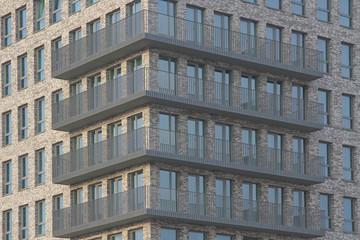 Detailansicht eines Gebäudes