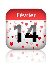 Page Calendrier 14 Février - ST VALENTIN (fête amoureux saint)