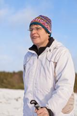 Nordicwalking im Schnee