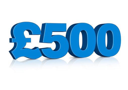 3D £500 Pounds