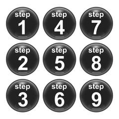 steps one to nine