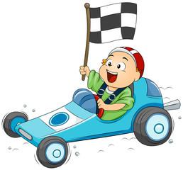 Recess Fitting Cars Go Kart Kid