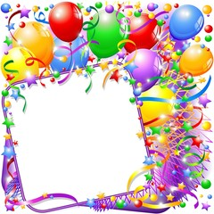 Festa di Compleanno-Sfondo-Party Birthday Background-Vector