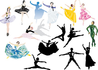sixteen ballet dancers collection