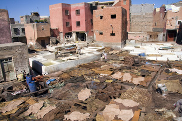 View over a tannery, Marrakech