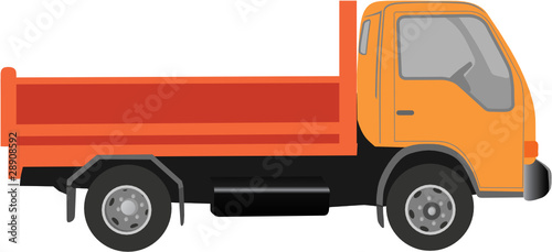 Wall mural CAMION UTILITAIRE A BENNE