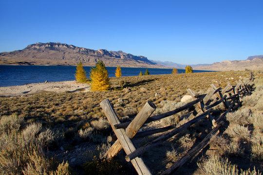 Cody reservoir in Western Wyoming