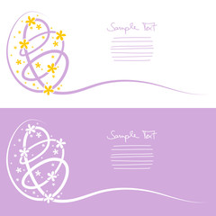Easter Cards Egg Background Purple