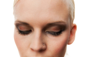 Sensual Young Woman With Modern Makeup