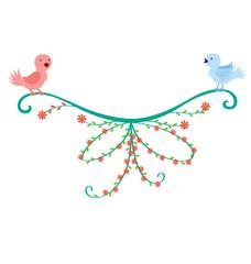 Bird Couple Decoration