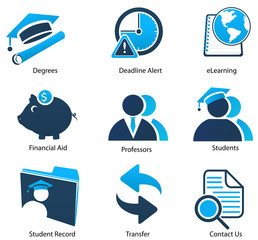 Higher Education Icons Set Two