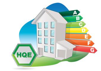Immeuble - batiment de haute qualite environnementale