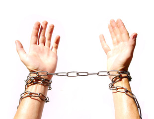 Hands chained