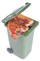 Pizza en la basura