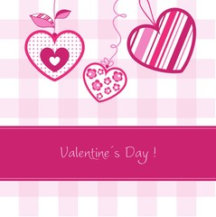 Valentine´s day card, vector