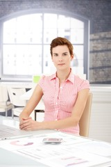 Office worker girl at desk