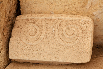 Detail of Hagar Qim neolithic temples Wall mural