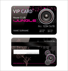 elegant vip club card