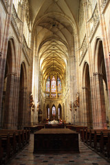Interior of St. Vitus Cathedral in Prague