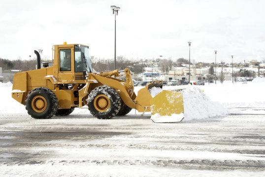 Large Yellow Snow Plow 2