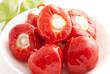 Eingelegte Paprika mit Feta