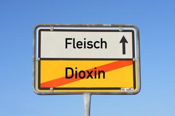 Schild Dioxin