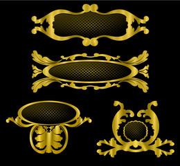insigne ou diadème doré