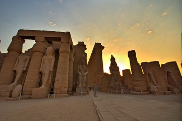 Luxor Temple at sunset. Luxor, Egypt